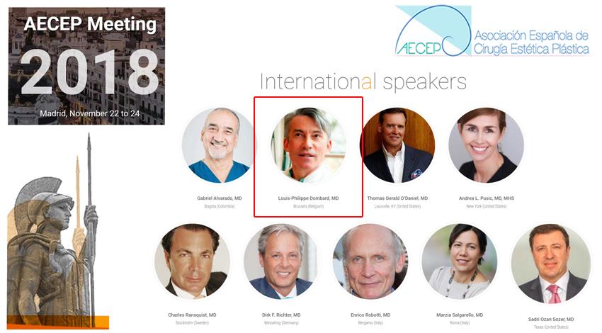 AECEP Congrès de Chirurgie Esthétique de Madrid 2018