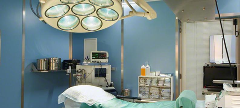 Salle d'OP de la Clinique de chirurgie esthétique du Docteur Dombard, spécialiste chirurgien à Bruxelles.