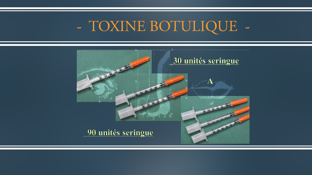 Toxine Botulique - Seringue - DR Dombard